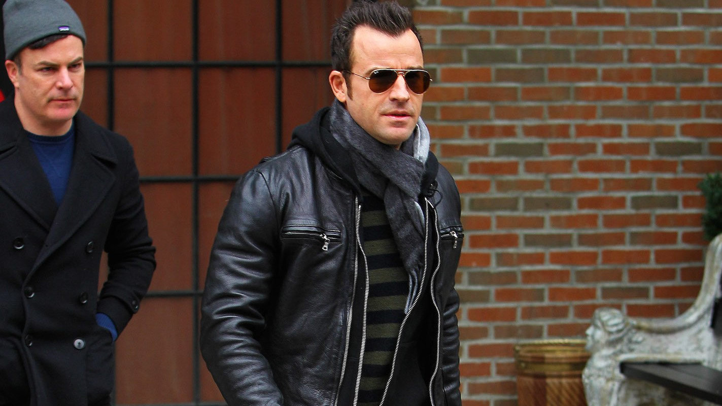 justin theroux leather jacket style