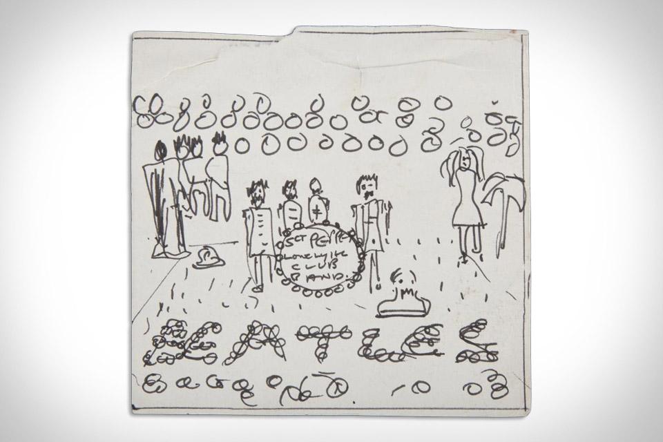 john lennon peppers sketch