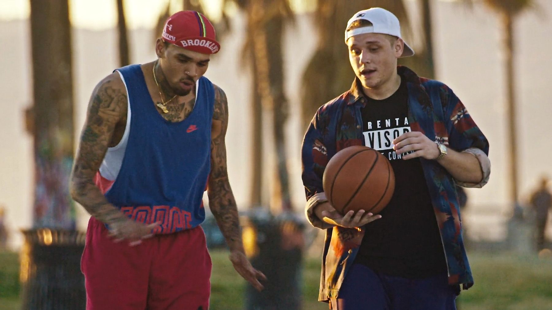 122915 music cal scruby and chris brown reenact white man can t jump video