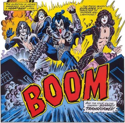 kiss comic boom