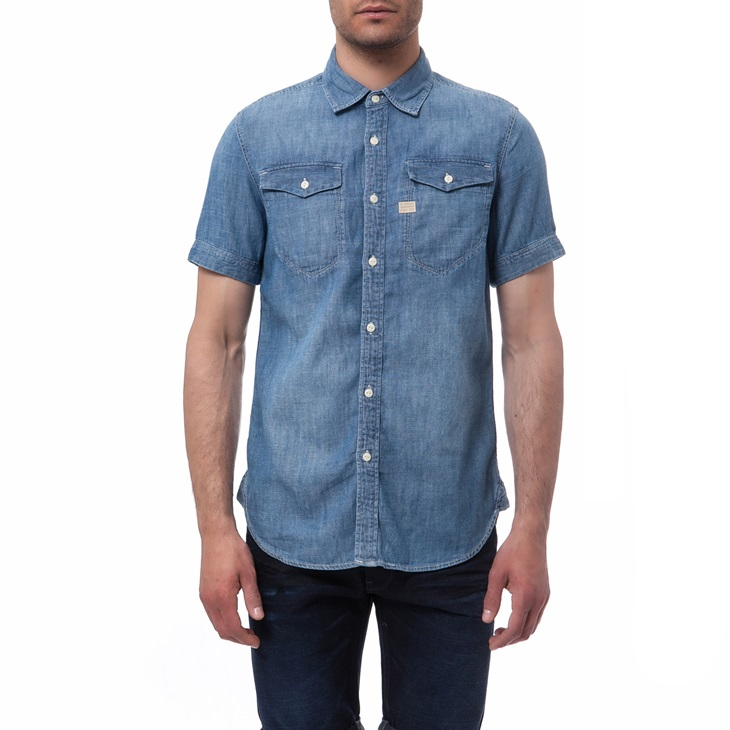 1370874.0 0086 1 g star raw ανδρικό τζιν πουκάμισο g star raw μπλε 730x730