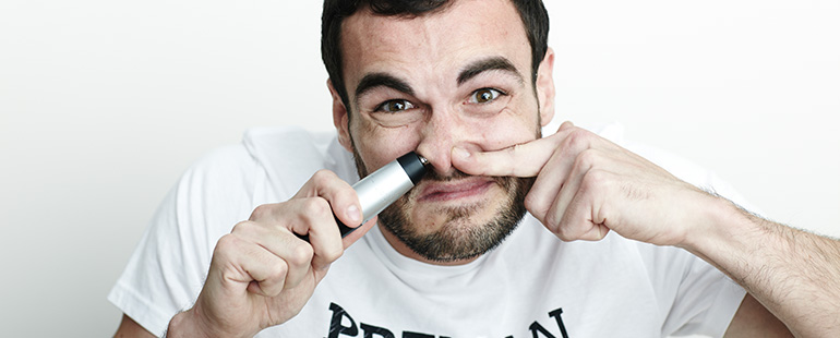 how to trim your nose hair with a trimmer