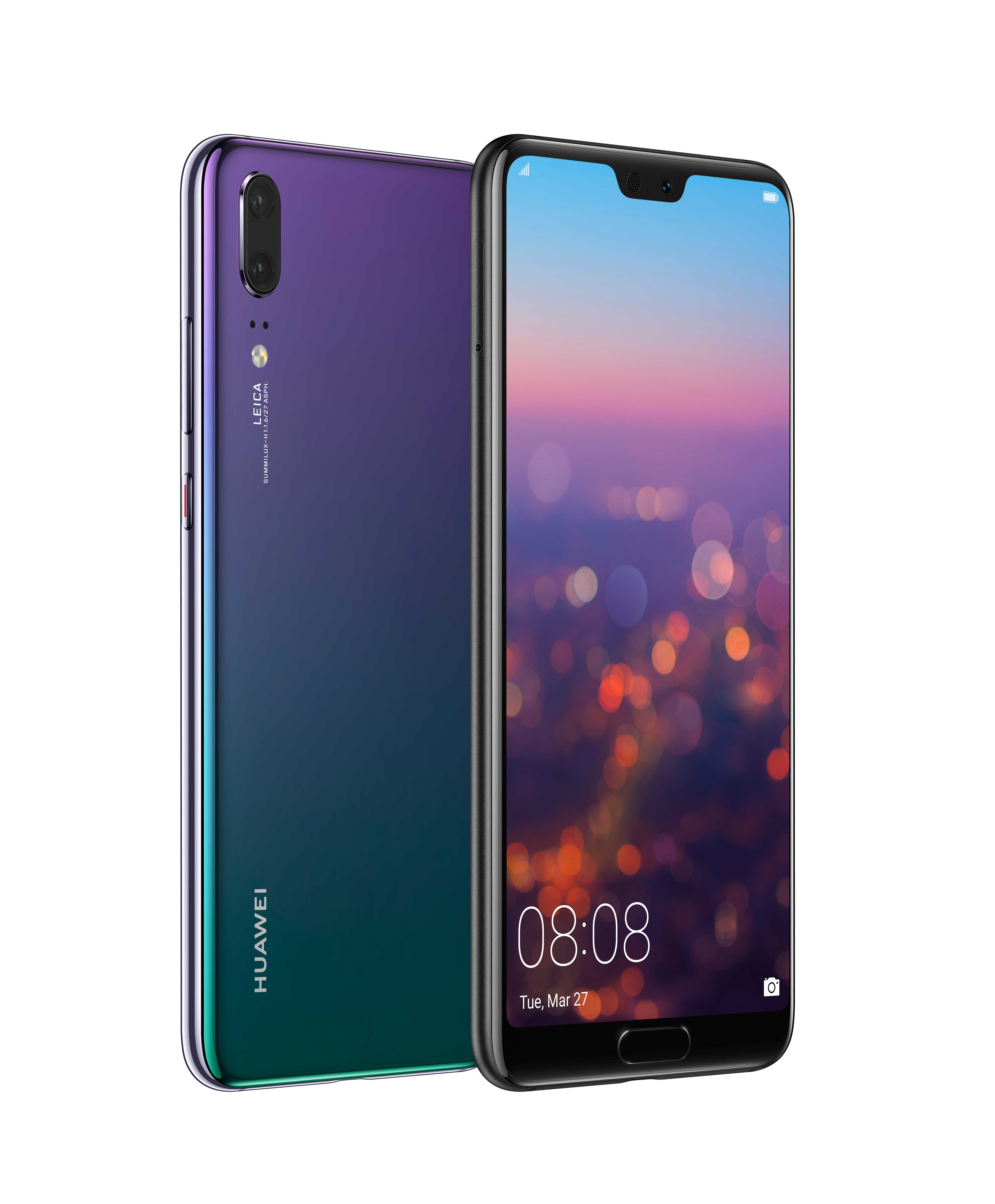 HUAWEI P20 Twilight Front and Back