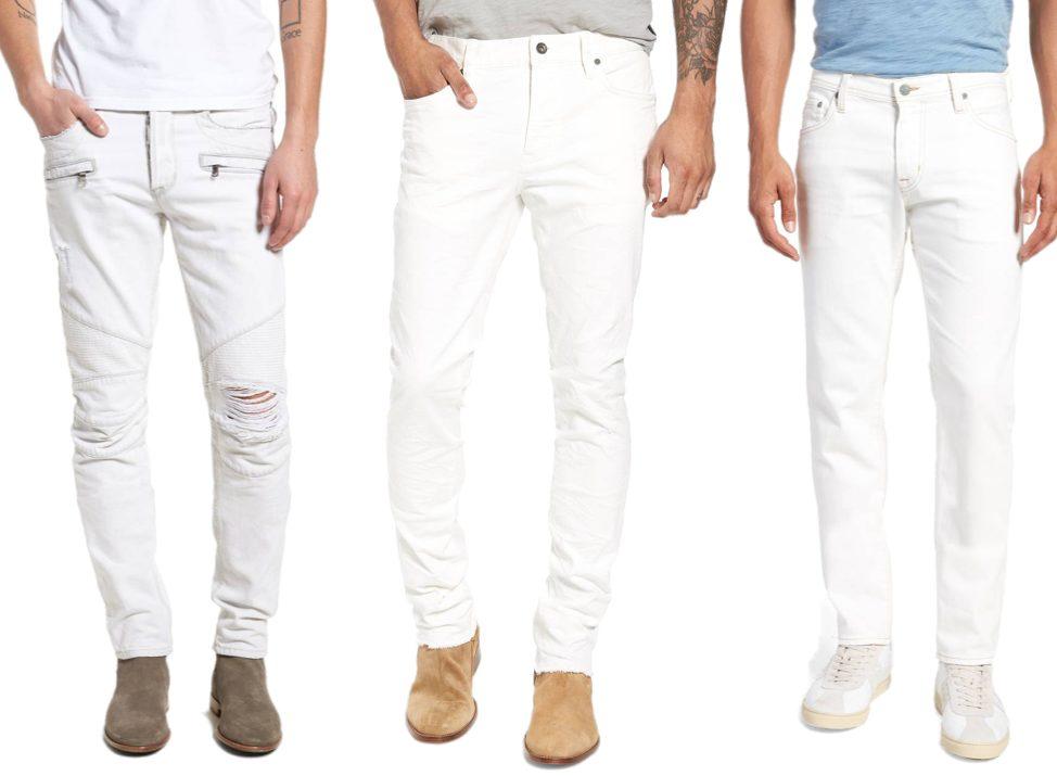 whitesummer slim fit mens white pants 2019