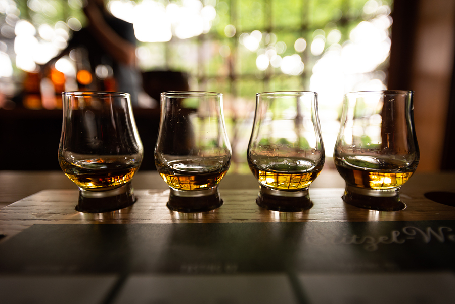bigstock Bourbon Flight With Selective 252205555