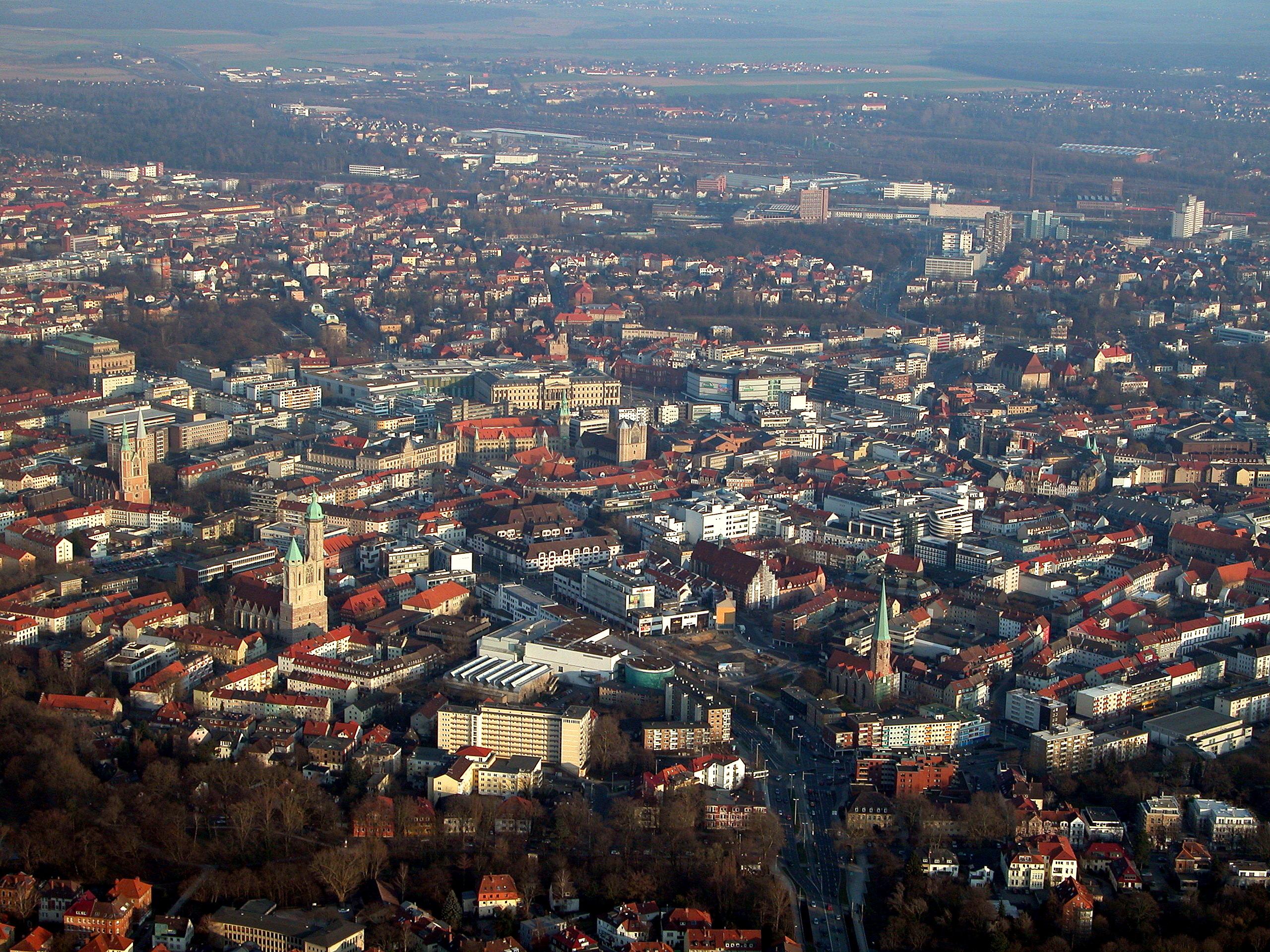 Braunschweig Luftaufnahme Innenstadt 2011