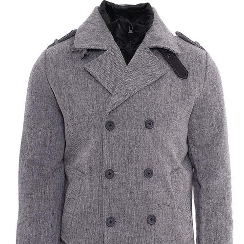 Γκρι παλτό για casual εμφανίσεις