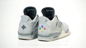 Air Jordan και Super Nintendo σε ένα παπούτσι
