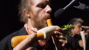 Μια ορχήστρα στη Βιέννη δίνει παραστάσεις με όργανα φτιαγμένα από λαχανικά