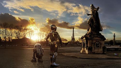 Ο Darth Vader πήρε το παρεόνι του Star Wars και βόλταραν στο Παρίσι