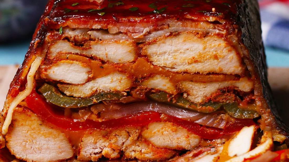 Ρολό κοτόπουλου με μπέικον και BBQ sauce, δοκίμασες;