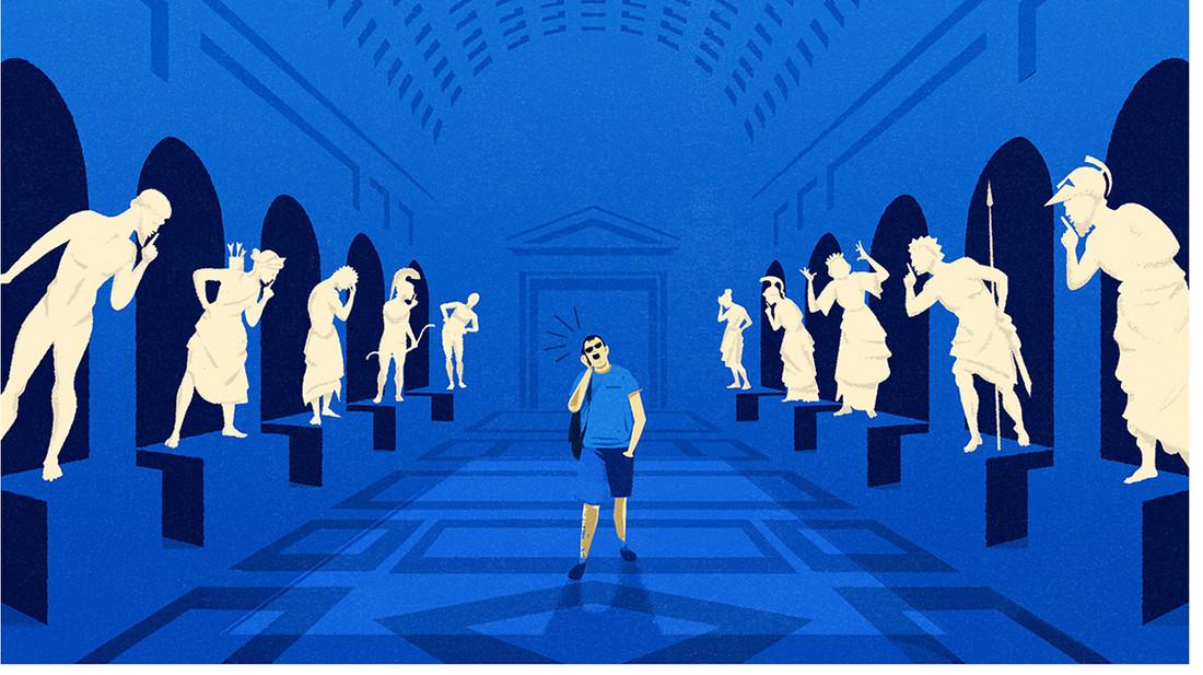 Φαντάζεσαι να είχαν μιλιά και κίνηση τα αγάλματα στα μουσεία;