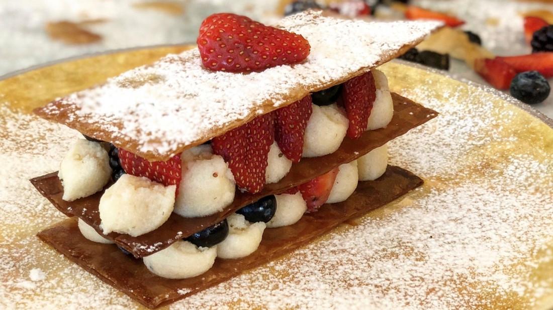 Μιλφέιγ με φρούτα