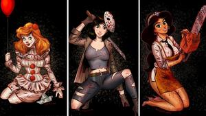 Μπορείς να φανταστείς τις πριγκίπισσες της Disney ως serial killers;