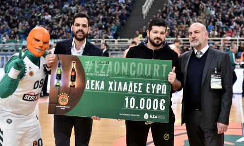 Ο μεγάλος νικητής του ''Eza On Court'' παρέλαβε την επιταγή των €10.000