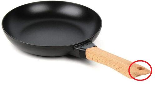 Ξέρεις τι ρόλο βαράει η τρύπα στο χερούλι του τηγανιού;