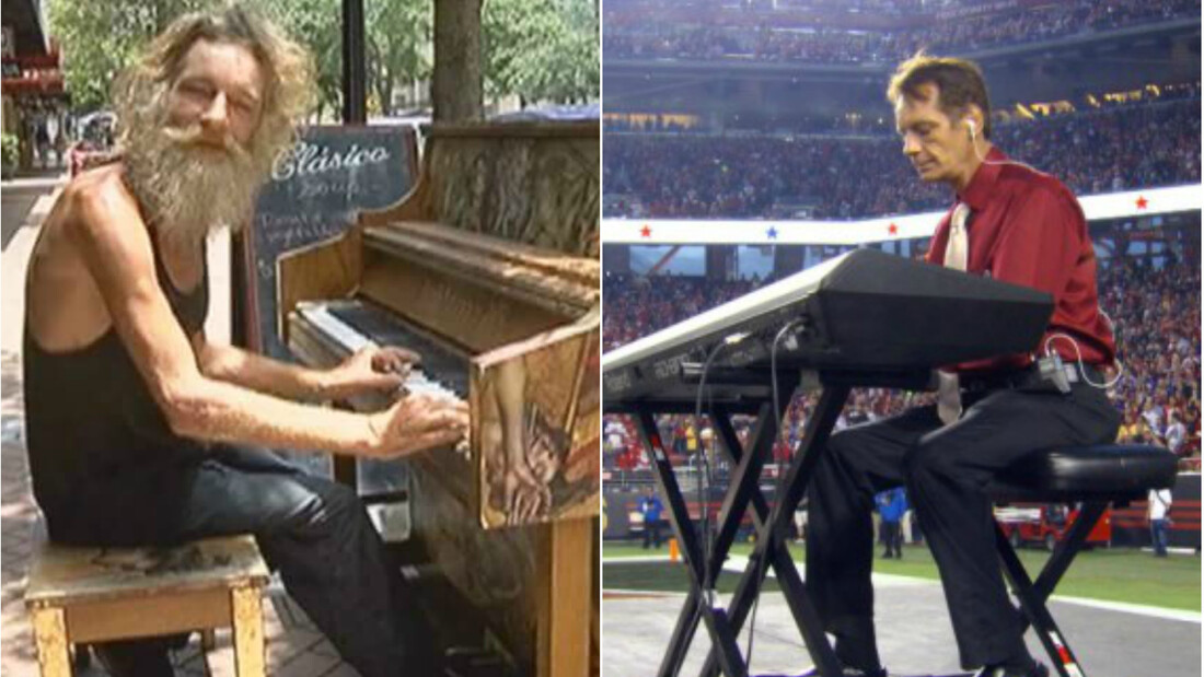 Donald Gould: Ο άστεγος μουσικός που έπαιξε μπροστά σε 75,000 άτομα