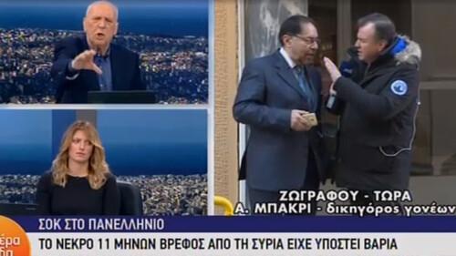 Έξαλλος ο Γιώργος Παπαδάκης με τον δικηγόρο των γονέων του βρέφους που υπέστη σεξουαλική κακοποίηση