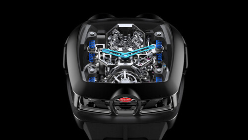 Αυτό είναι το πρώτο ρολόι που δουλεύει με μηχανή της Bugatti