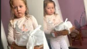 Κοριτσάκι μπήκε σπίτι με πίτσα - Λίγο αργότερα μούτρωσε για την απάντηση της μάνας της (video)