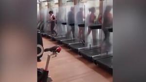 Απίστευτες εικόνες - Έτσι ανοίγουν και πάλι τα γυμναστήρια που μοιάζουν με κλινικές (photos+video)