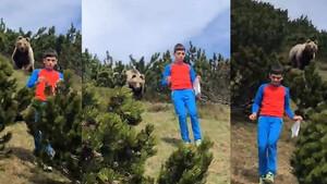 Έκανε πικ νικ με τους γονείς αλλά εμφανίστηκε αρκούδα - Απίστευτη η αντίδρασή του (photos+video)