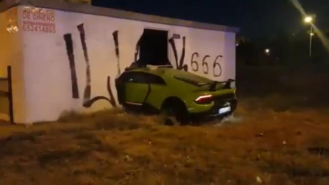 Δανείστηκε από τον φίλο του την Lamborghini και καρφώθηκε σε τοίχο