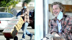 O Brad Pitt είναι cool ακόμη κι όταν κάνει delivery