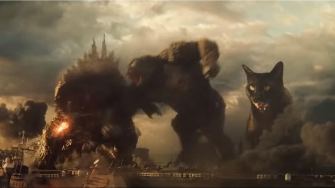 Ο Godzilla και ο Kong ενώνονται και πάνε για πόλεμο με μια γάτα