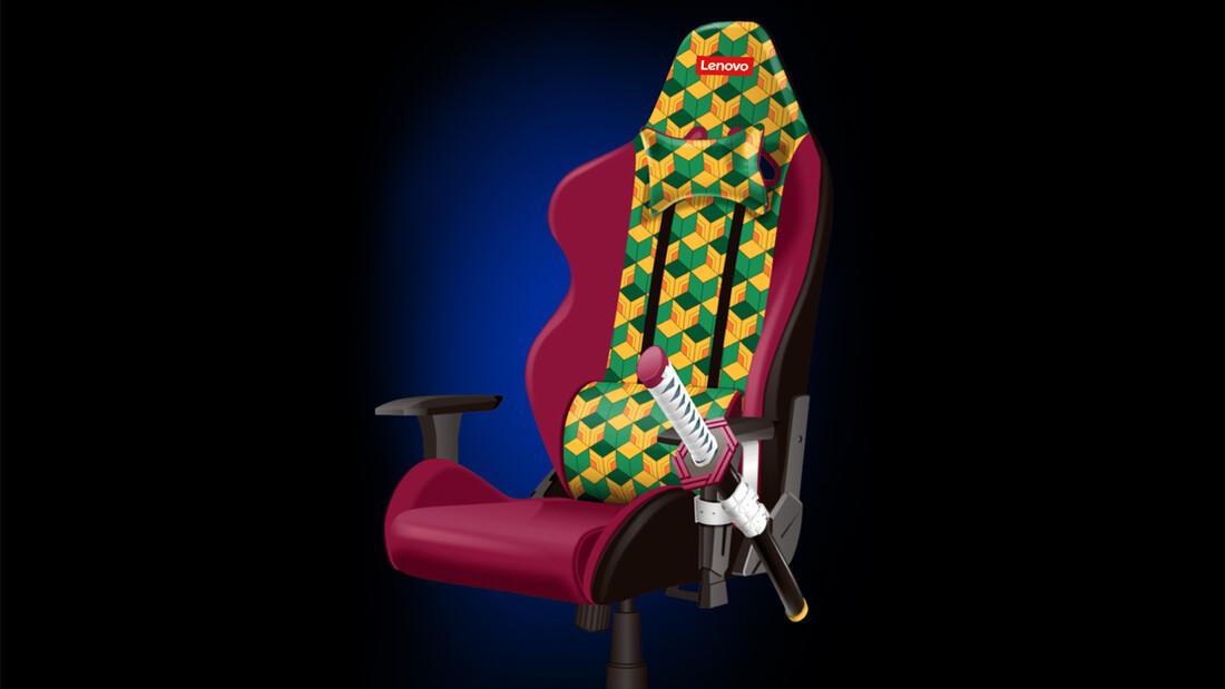 Demon Slayer: Μια gaming καρέκλα από τη Lenovo με ενσωματωμένο σπαθί katana