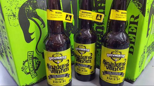 Με 67,5% αλκοόλ η Snake Venom είναι η μπίρα που θα σε στείλει αδιάβαστο