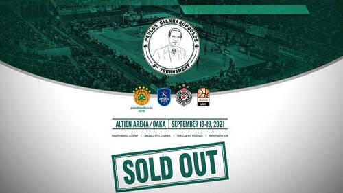 Εξαντλήθηκαν τα εισιτήρια για το 3ο Τουρνουά «Παύλος Γιαννακόπουλος»